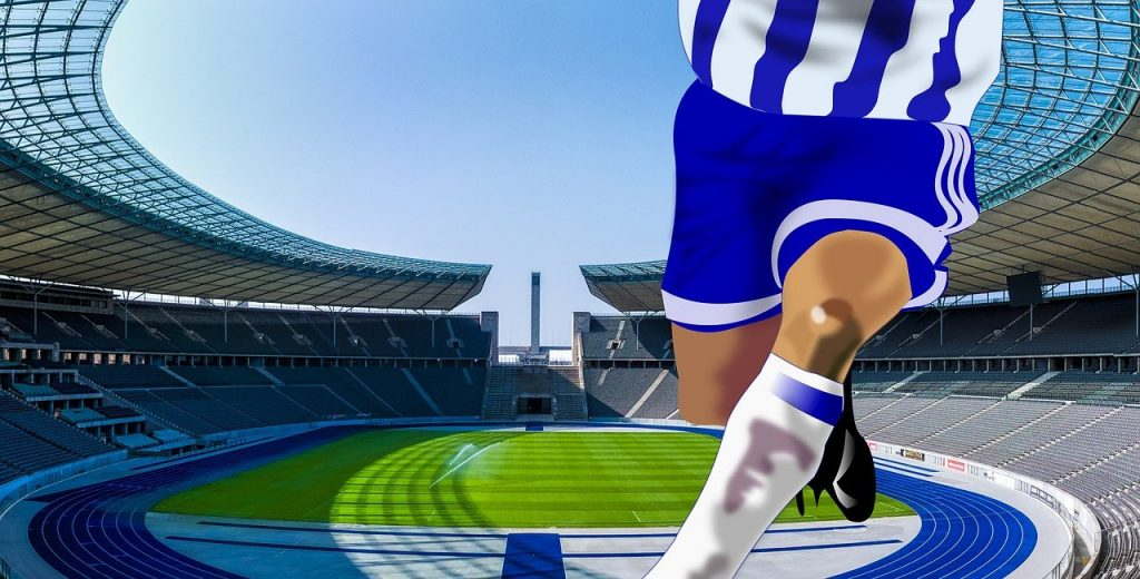 soccer, football player, arena